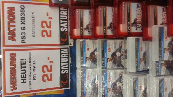 [München] Fifa 14, Battlefield 4, COD Ghost (PS3 & Xbox360) für je 22€ im Saturn am Stachus