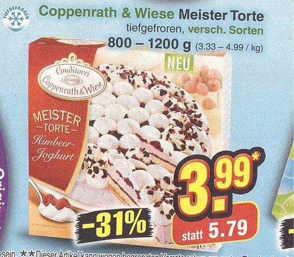 [Netto] Coppenrath & Wiese - Meister Torte - verschiedene Sorten von 800-1200g 3,99€