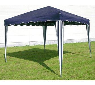 Pavillon / Partyzelt faltbar in blau und grün erhältlich, Größe 3x3m  für 44,95 zzgl. Versand (AB 50 Euro versandkostenfrei) + 6% Cashback Qipu
