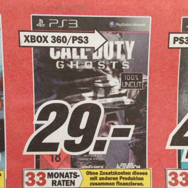 Call of Duty Ghosts PS3 Media Markt Mannheim