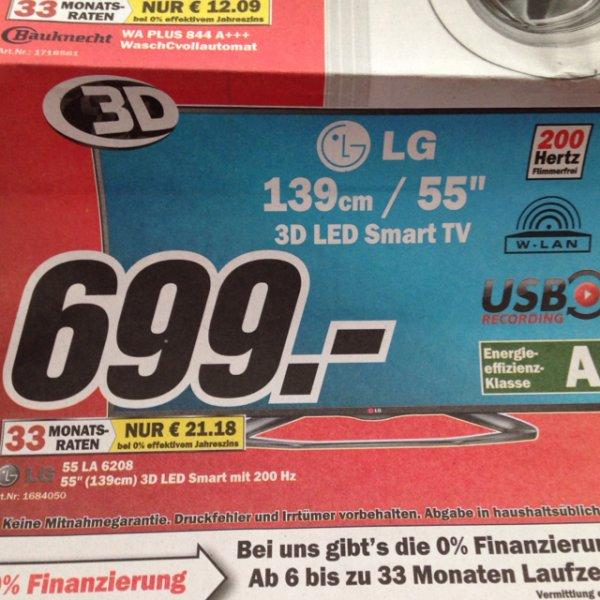 "LG 55"" 3D LED Tv - 55LA6208 - 699€ Media Markt Mannheim"