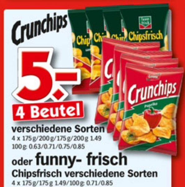 [HOL'AB] FunnyFrisch oder Crunchips 4 Beutel = 5€