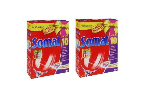 Doppelpack Somat Multi 10 / insgesamt 98 Spülmaschinen Tabs für 17,41€ frei Haus