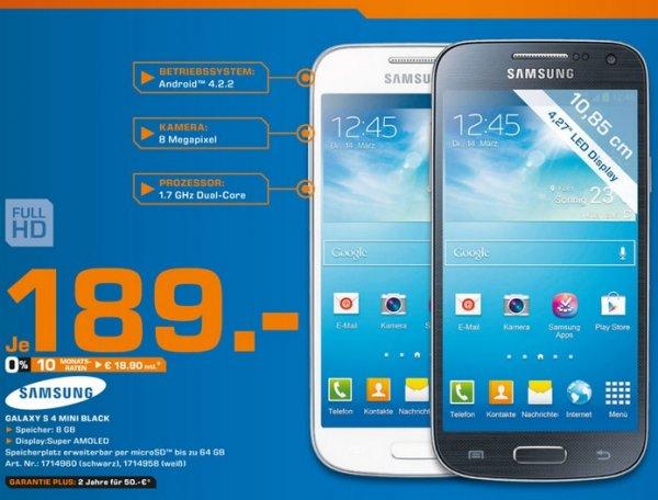 Samsung Galaxy S4 Mini Black Edition für 189€ Lokal [Saturn Paderborn]