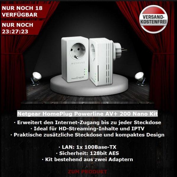 Netgear HomePlug Powerline AV+ 200 Nano Kit @One.de 19,99 €