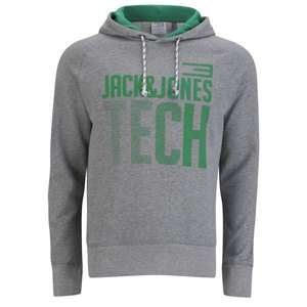 """Jack&Jones™ - Herren Kapuzenpullover/Hoodie """"Tech Token"""" (Light Grey Melange) für €12,08 [@Zavvi.com]"""