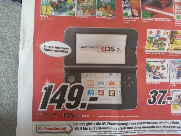 [Lokal] Göttingen-Weende / Nintendo 3DS XL schwarz 149€ @ MediaMarkt