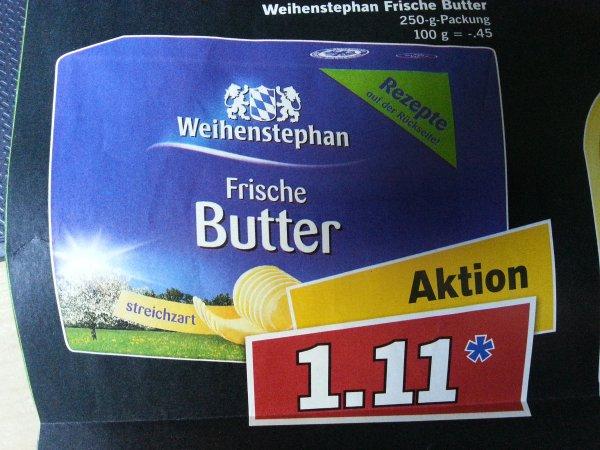 [LIDL] Weihenstephan Frische Butter 250-g-Packung am Samstag (19.04.14) für 1,11€