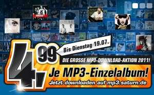 Saturn Musikdownload jedes Album 4,99 € ( z.B. K.I.Z. / Casper )