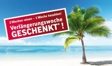 LIDL-Reisen: 2 Wochen verreisen nur Eine bezahlen (auf ausgewählte Reisen) z.B. 2 Wochen DemRep all inclusive 999€ pP