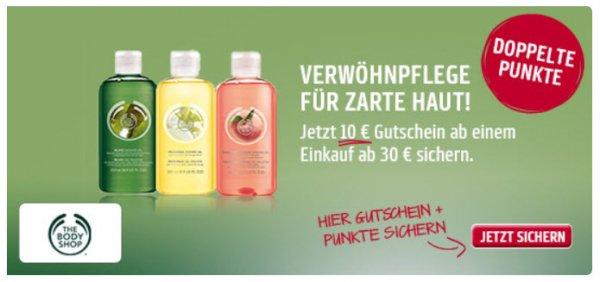 10€ Gutschein bei The Body Shop (nur online!) ab 30€ MBW mit Payback