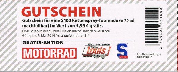 S100 Weißes Kettenspray im Wert von 5,99€ umsonst bei Louis