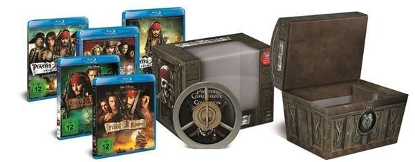 Fluch der Karibik: Die Piraten-Quadrologie (Limitierte Collector's Edition Schatztruhe inkl. Soundtrack) (9 Disc-Box) (Blu-ray)