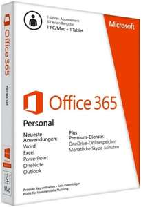 Microsoft Office 365 Personal 1 PC oder Mac