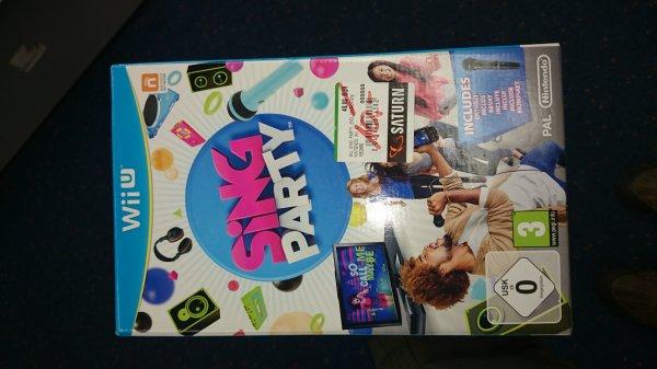 (lokal München) Wii U Spiel Sing Party mit Mikrofon für 10 Euro!!!