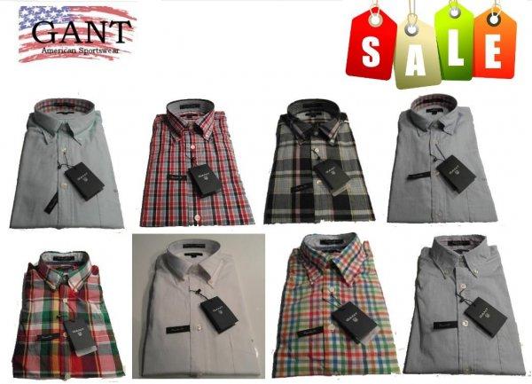 Details zu  Original GANT Hemden Oxford Karo Uni Grosse Auswahl S- XXXXL NEU