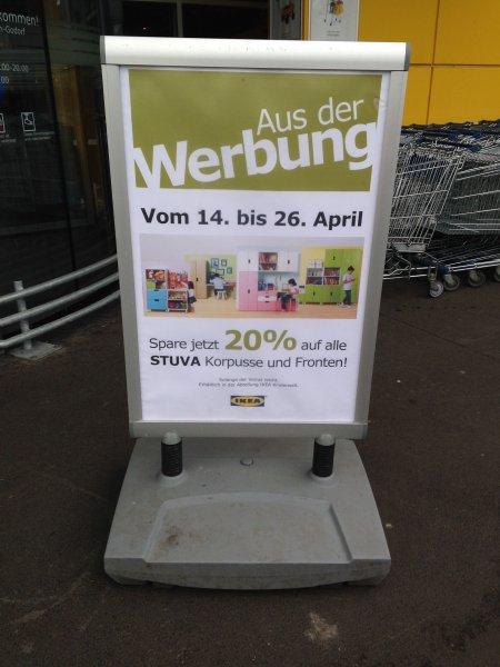 Lokal: IKEA Köln Godorf 20% auf alle Stuva Korpusse und Fronten!