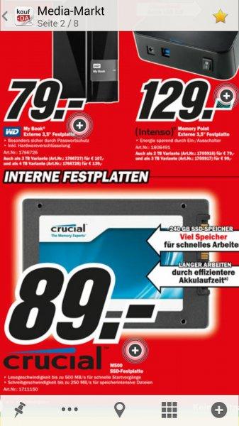 [mediamarkt.de] SSD Crucial m500 240gb