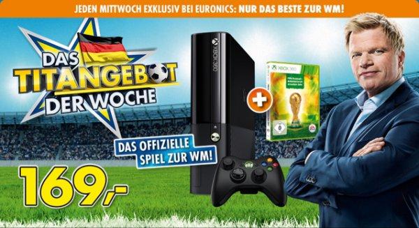 XBOX 360 250 GB + EA SPORTS Fussball-Weltmeisterschaft Brasilien 2014 Bundle für 169€