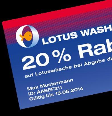20% Rabatt auf die Lotuswäsche von TOTAL (8,30 €]