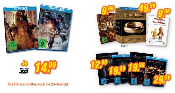 Der Hobbit I 3D oder Pacific Rim 3D [Blu-Ray] je 14,99€ in allen teilnehmenden Expert-Märkten