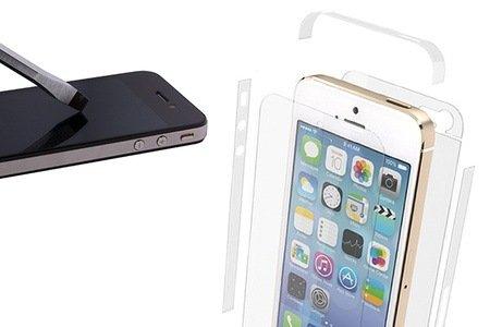 Transparentes QooQoon silqShield für iPhone 4, 4S oder 5/5S mit lebenslanger Garantie für 9,95 € (53% sparen)