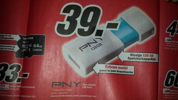 PNY Wave Attaché 128GB USB 2.0 Stick @ Media Markt