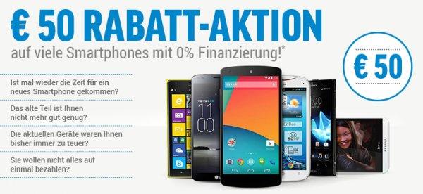 50€ Rabatt auf viele Smartphone  Nexus 5, LG G2...etc  ab 149€ gültig