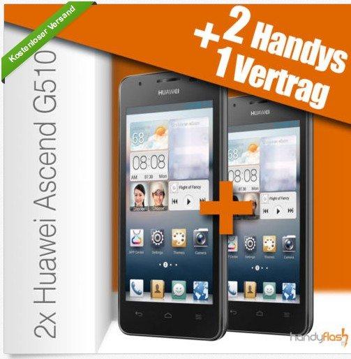 2 x Huawei Ascend G510 Handys für 7,50€ in Monat ( BASE Pur Vertrag )