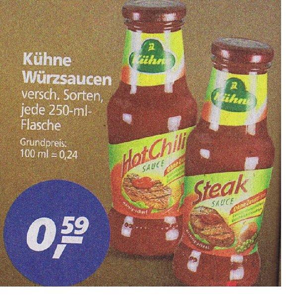[Real]  Kühne GRILL & WÜRZSAUCEN zb Brandstifter oder Unschuldsengel Sauce versch Sorten 0,59€