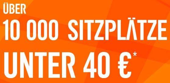 easyJet 10.000 Flüge unter 40€