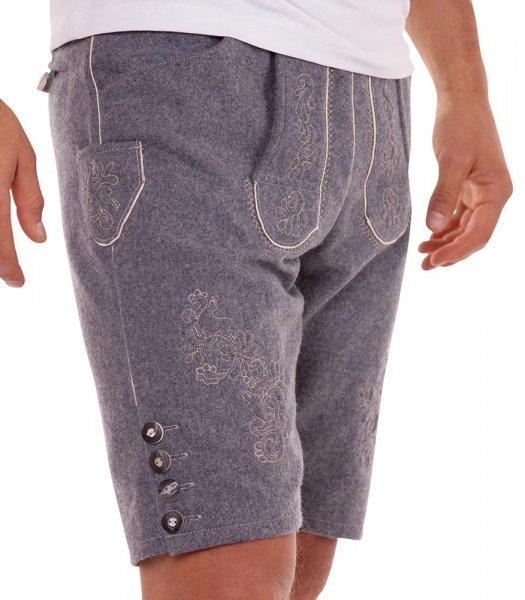 Coole Trachtenhose von Marjo aus Wolle mit Stickerei