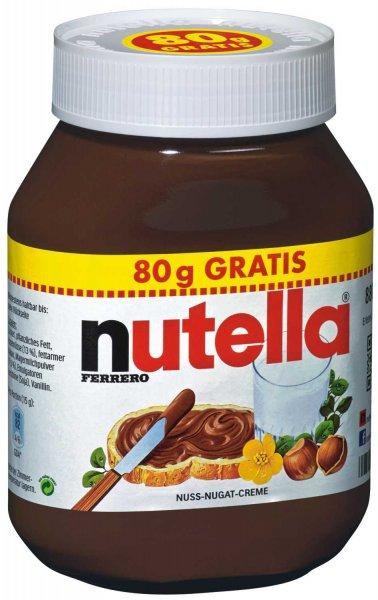 NUTELLA [Bundesweit] 800g + 80g Gratis @ REWE für nur 2,69 € (statt 3,69)