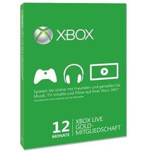 Xbox Live Gold 12 Monate @ Paypal.com/G2A.com und weitere Gaming Angebote