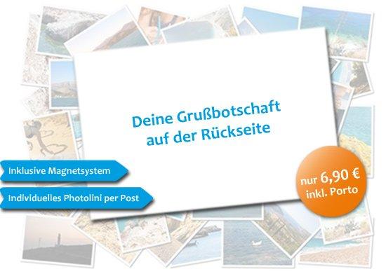 Fotogruß als (Magnet)element 10x15-Format inklusive Versand für 1 Euro. @Photolini.de (wahrscheinlich ein Gutscheinfehler)