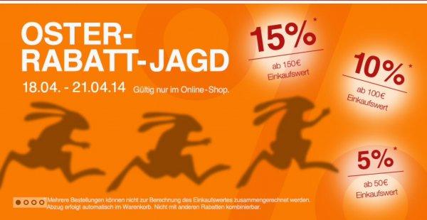 Sportarena-shop.de gibt über Ostern bis zu 15% Rabatt