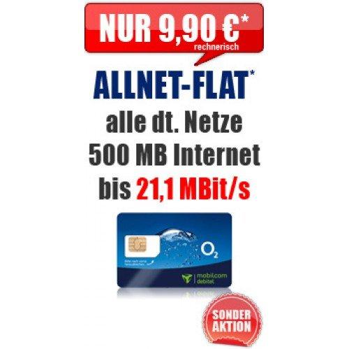 Allnet-Flat inkl. 500 MB Internet mit 21,1 MBit/s nur 9,90€ im Monat