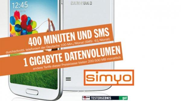 Für nur 16,90 Euro im Monat bekommen COMPUTER BILD-Leser exklusiv ein Gigabyte Daten, 400 Einheiten und dazu das Top-Smartphone Samsung Galaxy S4.