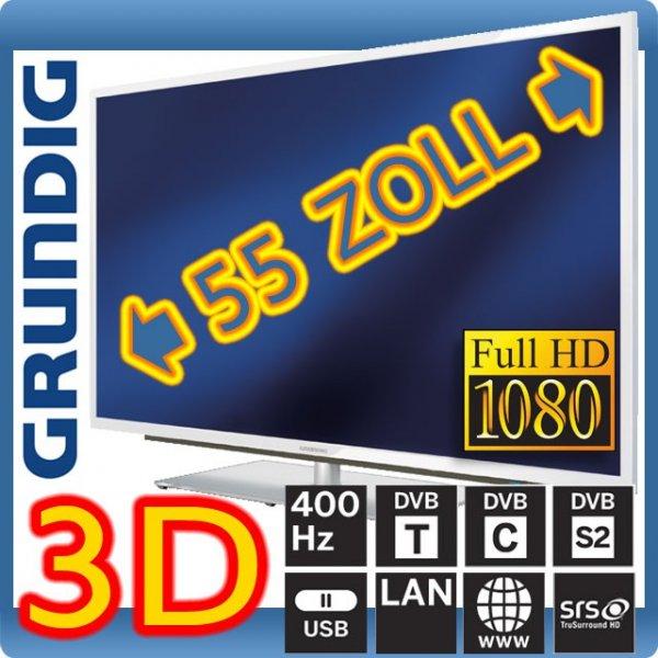 Grundig 55VLE9372 WL 400Hz Display mit LED Backlight DVB-T/C/S2 Triple-Tuner