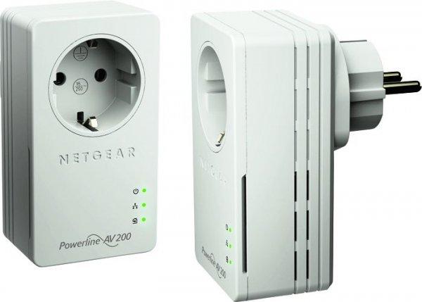 """Netgear Set: 2x PowerLAN-Adapter 200 MBit/s """"XAVB1601"""" für 29,85€ @ZackZack"""