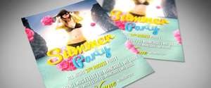Gratis: Summer Party PSD Flyer Template