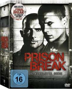 Prison Break-Die komplette Staffel(+Final Break) (24 DVD's) bei Amazon für €33 / Blu-Ray für 55€