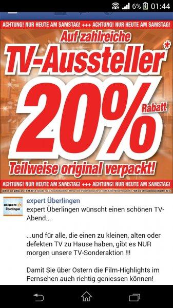 [lokal Überlingen] Expert: 20% auf zahlreiche TV aussteller