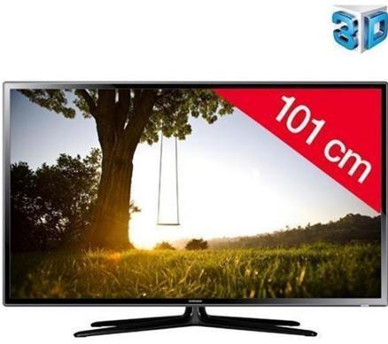 SAMSUNG LED-Fernseher 3D UE40F6100 - FullHD, 200Hz - inkl. 2 3D Active-Brillen