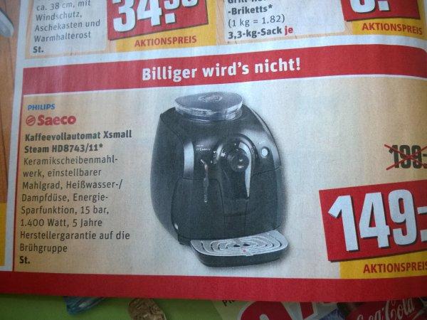 Philips Saeco Xsmall bei REWE für 149,- €!
