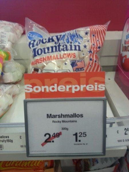 Rocky Mountains Marshmallos 300g für 1,25 € - 1 € scondoo