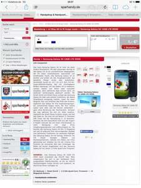 (Sparhandy) o2 Blue All-in M Junge Leute + Samsung Galaxy S4 16GB LTE i9505 für 631€ (effektiv 26,30€)