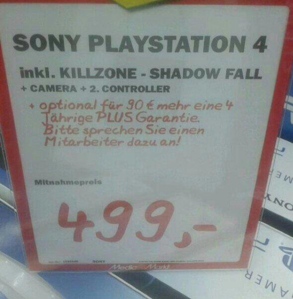 Play Station 4 Killzone Bundle (lokal) MediaMarkt Düsseldorf Bilker Arcaden