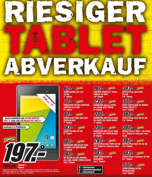 [Lokal] Göttingen Großer Tablet-Abverkauf bei MediaMarkt / nur solange Vorrat reicht ! Ab 67€ gehts los...