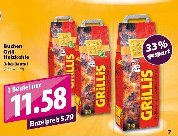 Buchen Grill-Holzkohlebriketts von Grillis